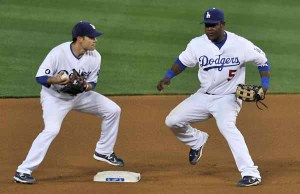 Juan Uribe and Jamey Carroll
